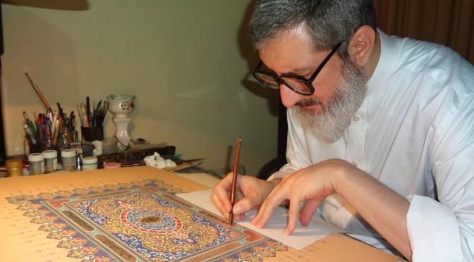 Muslimsk gejstlig giver en gave til Det Universelle Retfærdighedens Hus